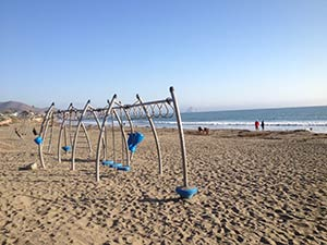cayucos beach swing set